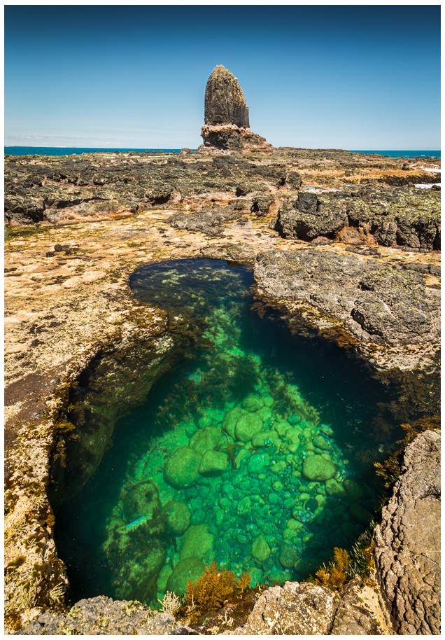 rock pool sunrise over ocean in victoria australia