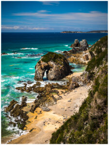 ocean rock in sapphire coast nsw, tourism