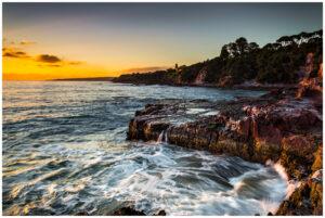 Sunrise at Aslings beach in Eden nsw