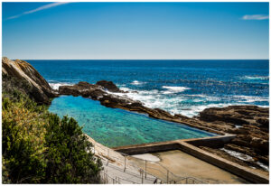 Blue pool in bermagui nsw, tourism