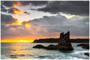 Sunrise at cathedral rock in kiama, nsw tourism
