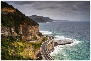 seacliff bridge along coalcliff coastline nsw