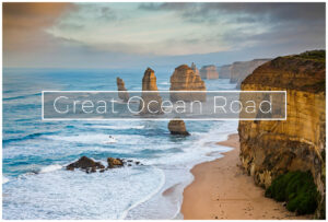 sunset over the 12 apostles great ocean road victoria
