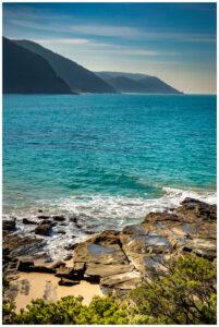 Lorne beach during summer in australia
