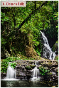 waterfall in lamington national park queensland